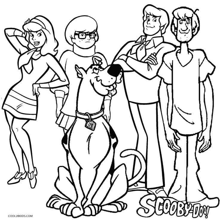 736x736 Printable Scooby Doo Coloring Pages For Kids