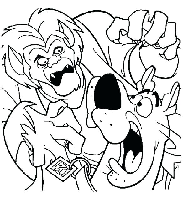 600x649 Scooby Doo Coloring Pages Printable Free Printable Scooby Doo