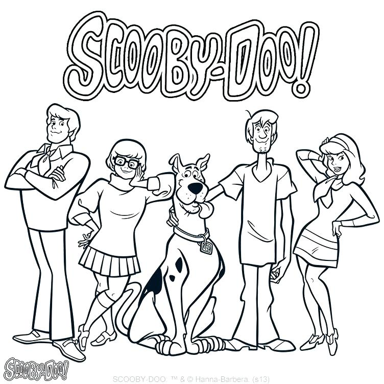 752x752 Coloring Pages Of Scooby Doo Main Characters Coloring Page