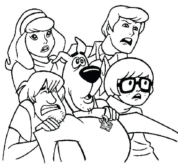 752x709 Scooby Doo Halloween Coloring Pages Coloring Pages Scooby Doo