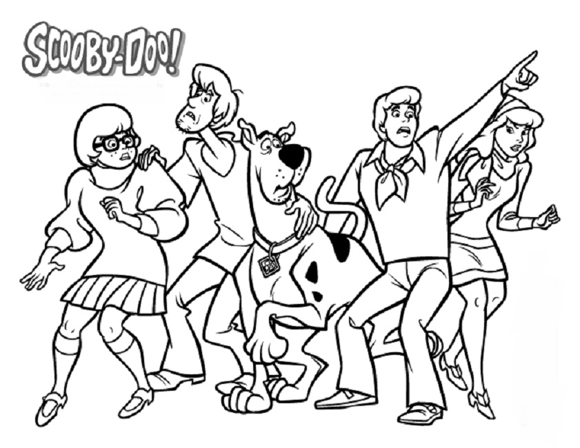 841x650 Scooby Doo Characters Coloring Pages Cartoon Crafts