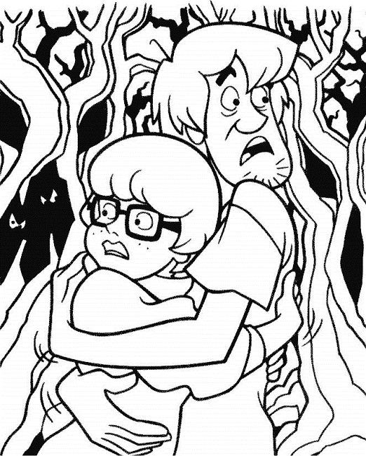 522x650 Scooby Doo Halloween Coloring Pages Free Cartoon