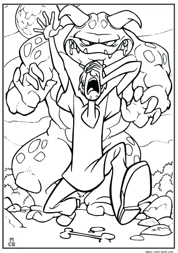 685x975 Free Scooby Doo Halloween Coloring Pages Page Book Plus Cool
