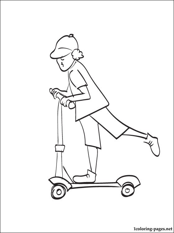 560x750 Kick Scooter Coloring Page Coloring Pages
