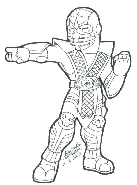 536x724 Scorpion Coloring Pages Adult And Kids Mortal Coloring Pages