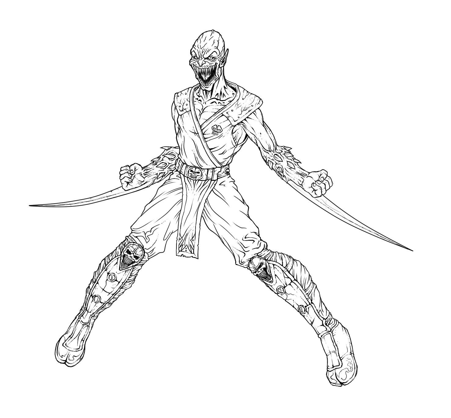 1476x1368 Trendy Mortal Kombat Coloring Pages To Print Xl For Kids Scorpion