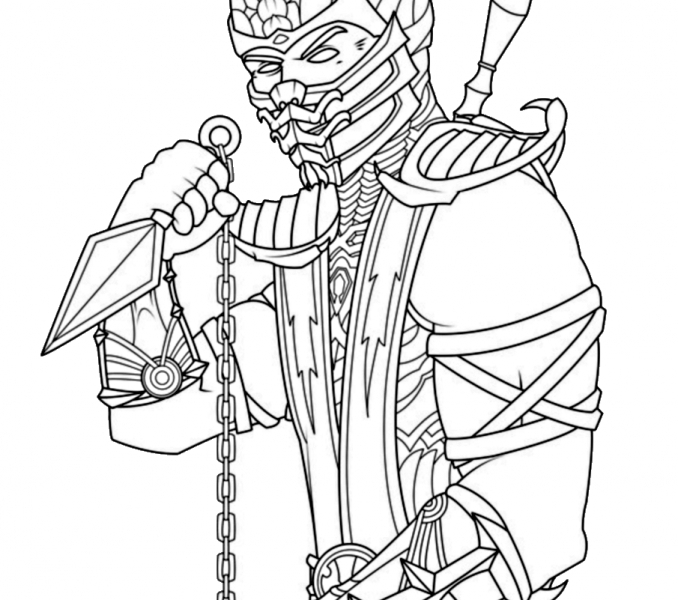 678x600 Scorpion Coloring Pages Mortal Kombat Coloring Pages Mortal Kombat