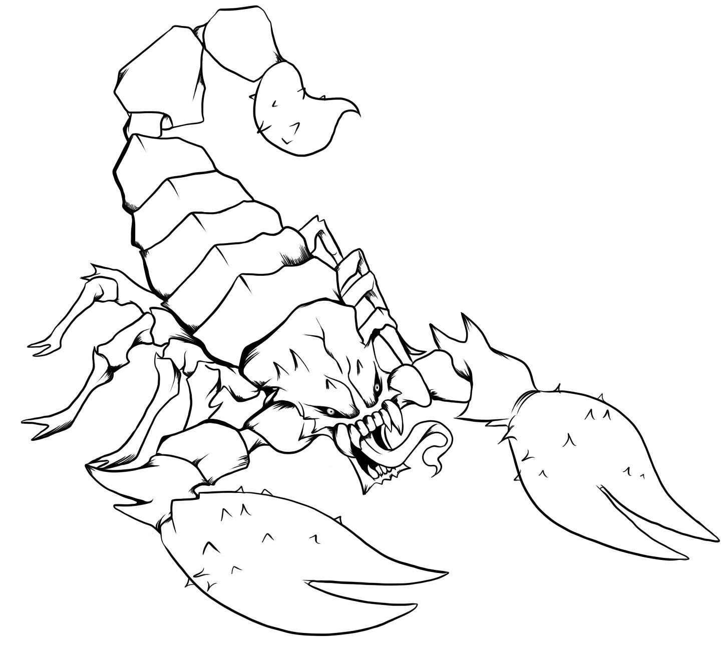 1440x1293 Free Printable Scorpion Coloring Pages For Kids Throughout