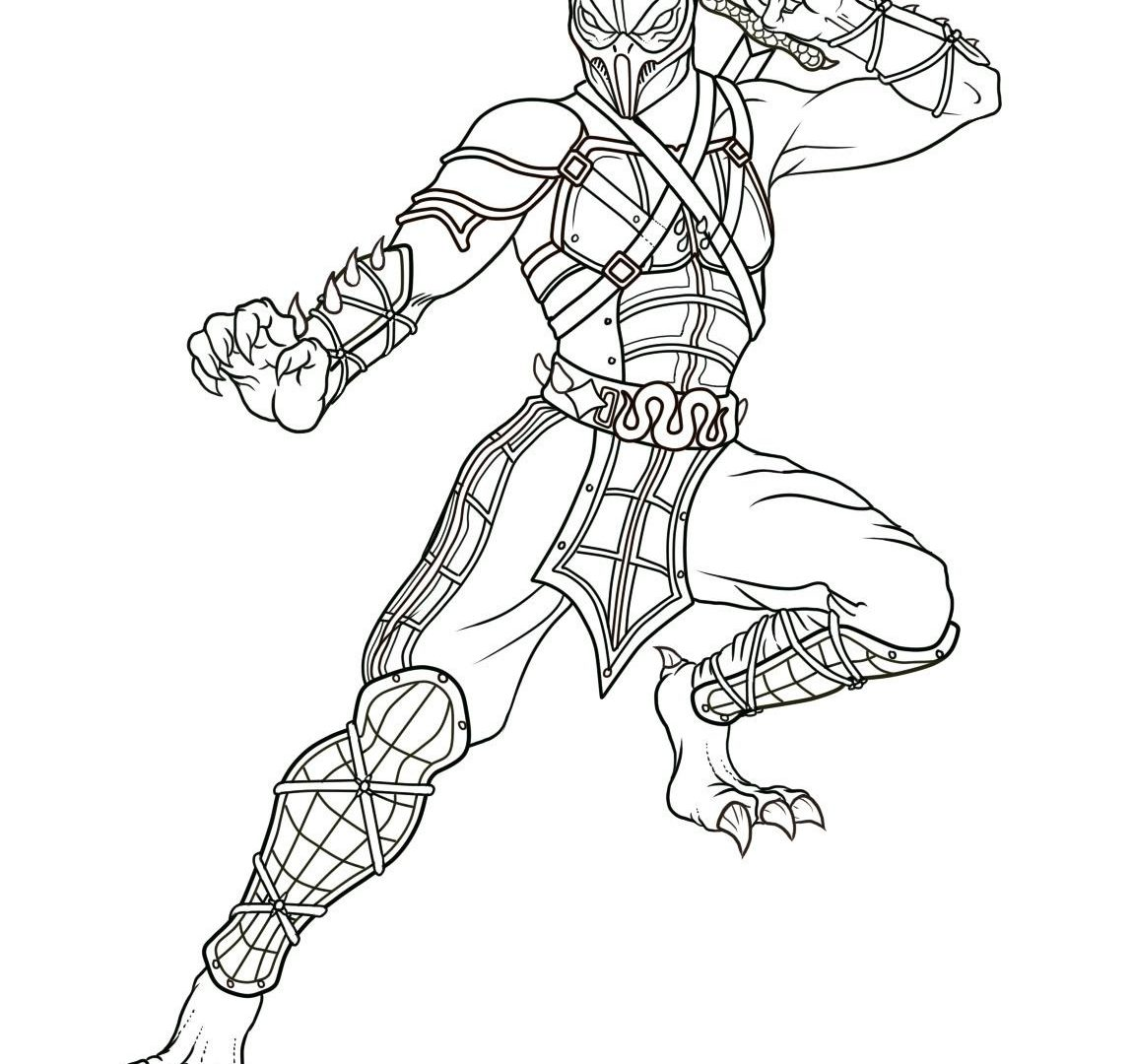 1150x1080 Good Mortal Kombat Coloringages Kitanarintable To Humorousage