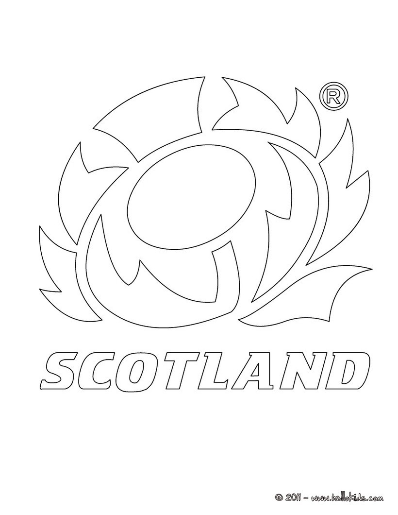 820x1060 Scotland Rugby Team Coloring Pages