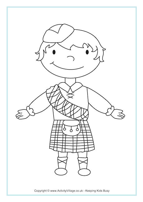 460x650 Scottish Coloring Pages