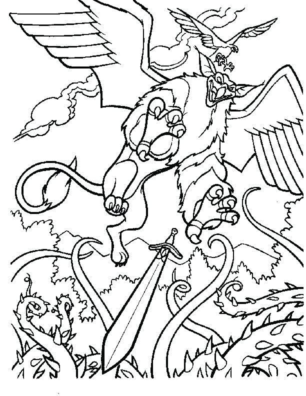 612x792 Scottish Coloring Pages Coloring Pages Beast Quest Movie Beast