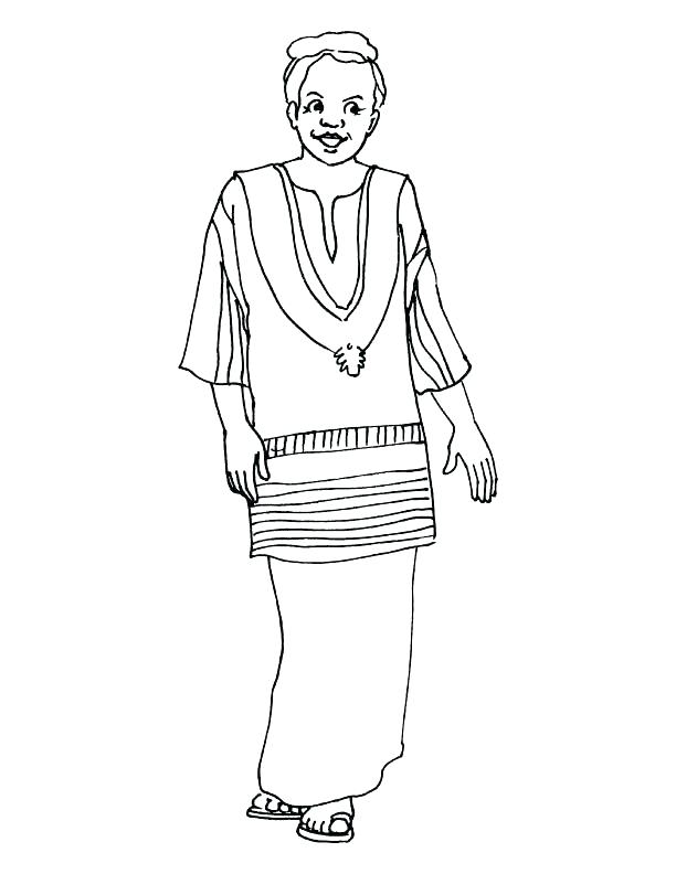 612x792 Scottish Coloring Pages Coloring Pages Woman In Traditional Dress