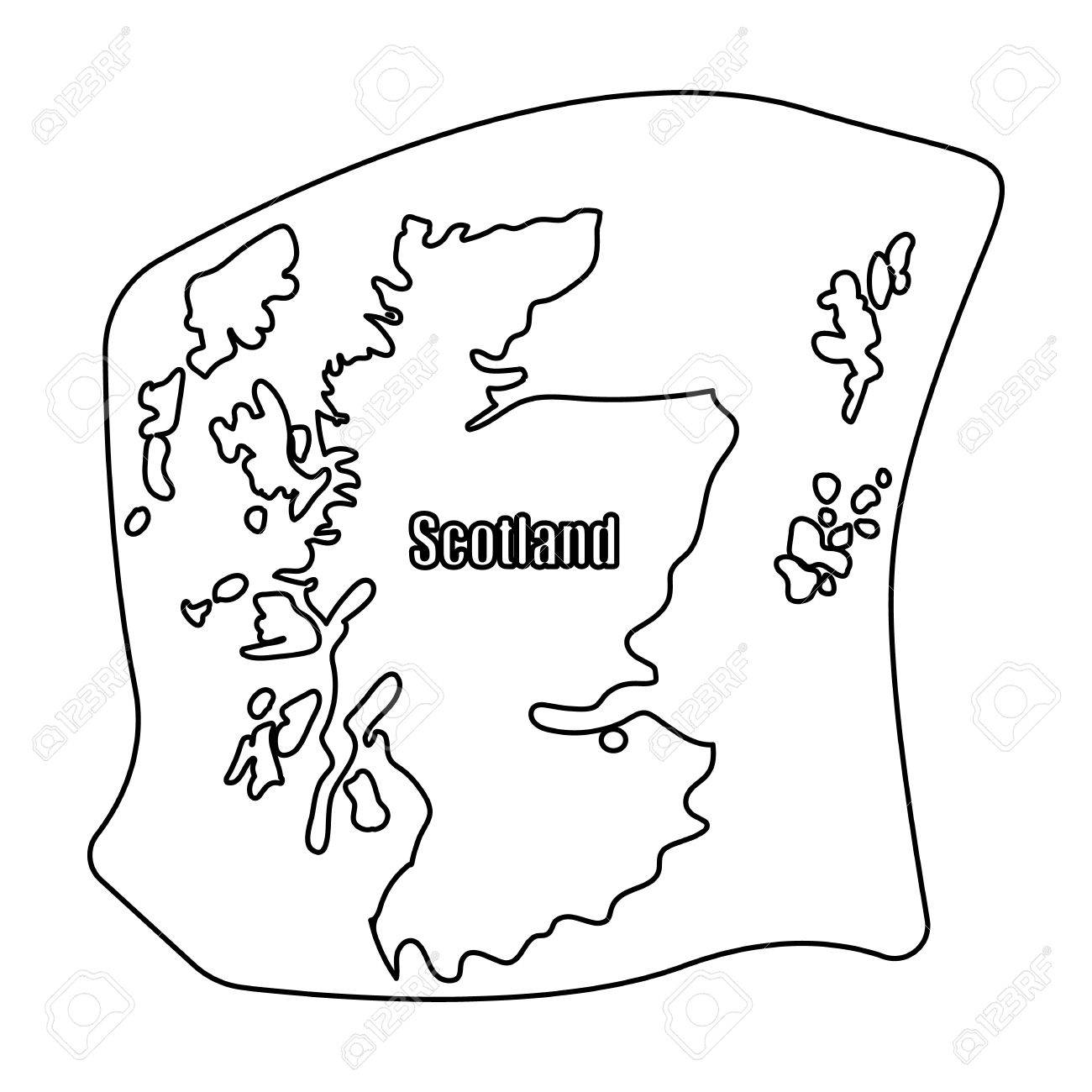 1300x1300 Special Outline Of Scotland Cool Coloring Pages Ideas