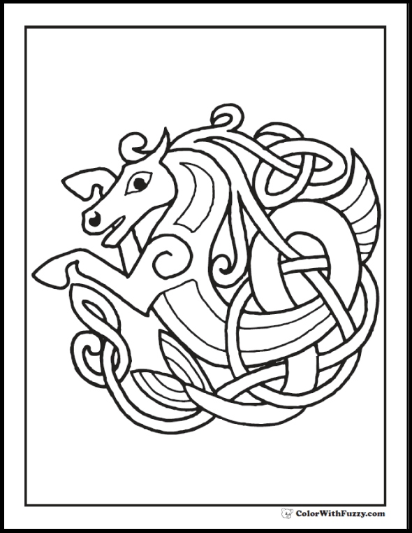 590x762 Celtic Coloring Pages Luxury Celtic Coloring Pages Irish