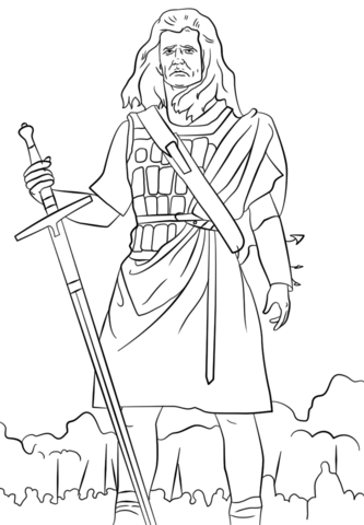 333x480 William Wallace Coloring Page Scotland Category Select