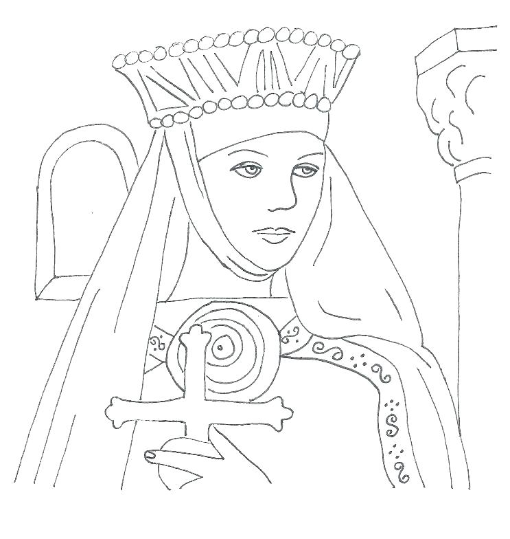 743x784 Scottish Coloring Pages