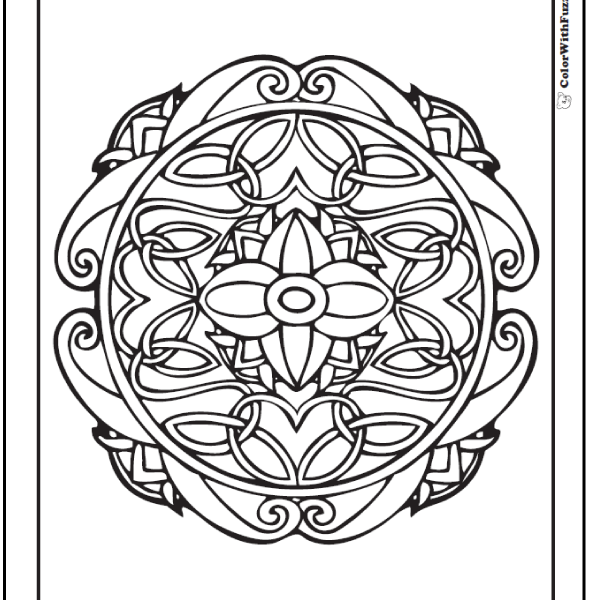 590x600 Celtic Designs Coloring Pages Celtic Coloring Pages Irish