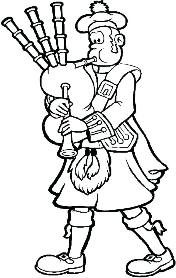 600x948 Scotland Coloring Pages Coloring Page Use X Paper Scotland