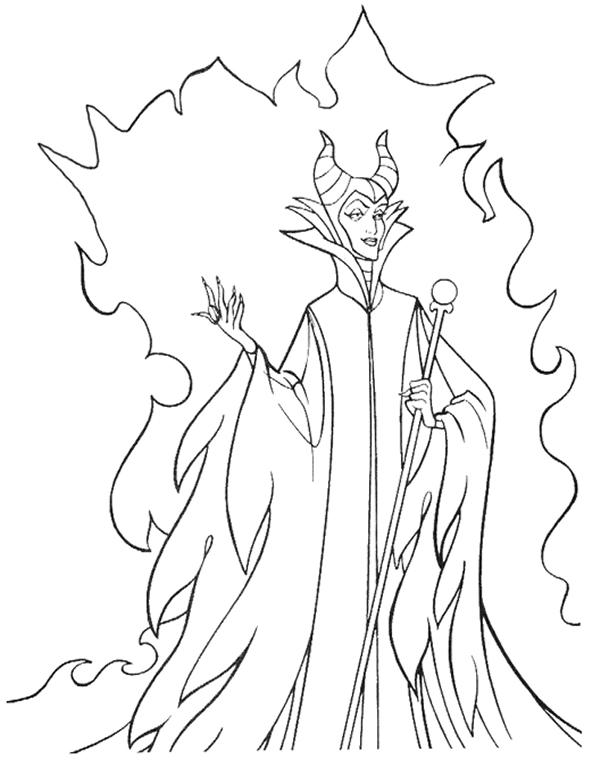 600x760 Disney Villains Coloring Pages Scrapbooking