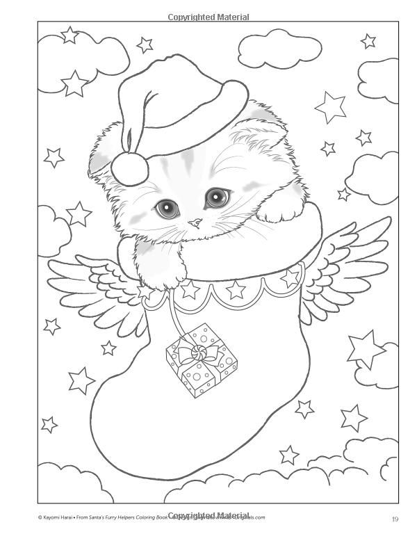 600x768 Peludo Ayudantes De Santa Claus Para Colorear Libro Kayomi Harai