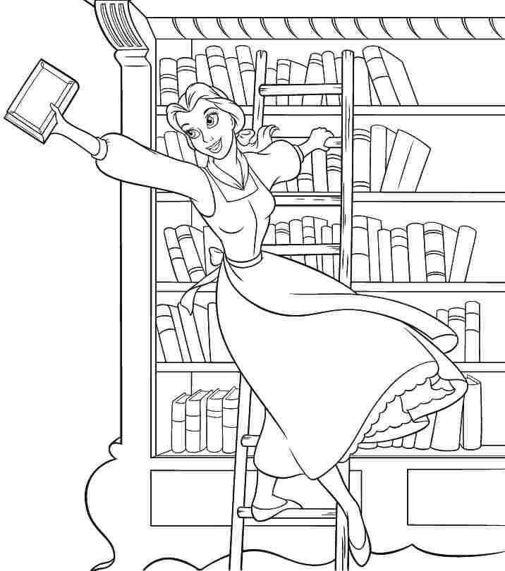 716x810 Printable Beauty And The Beast Coloring Pages Scrapbook