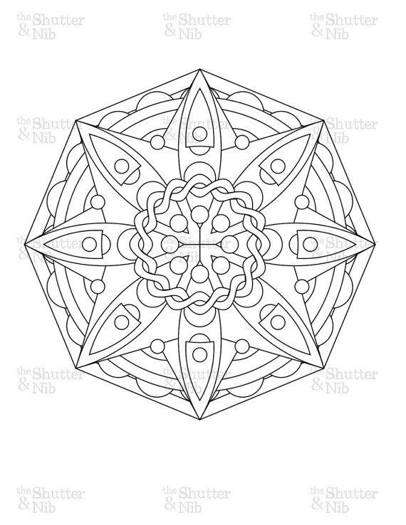570x738 Printable Mandala Download