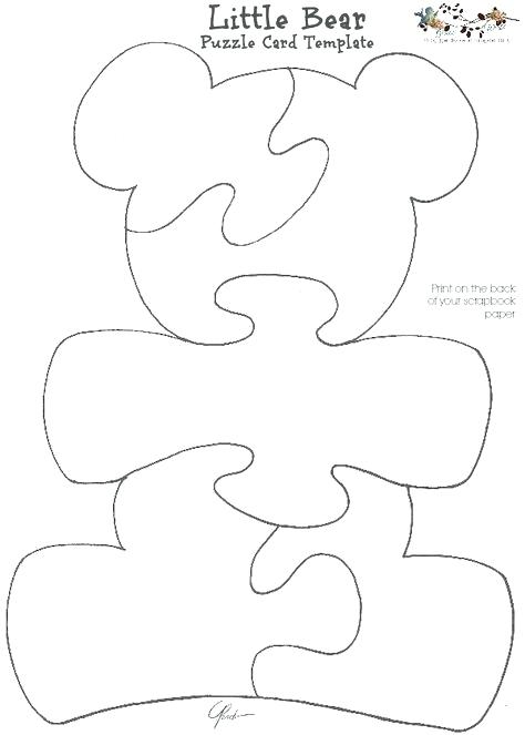 474x663 Spacey Shapes Coloring Page Free Bear Puzzle Print On Scrapbook
