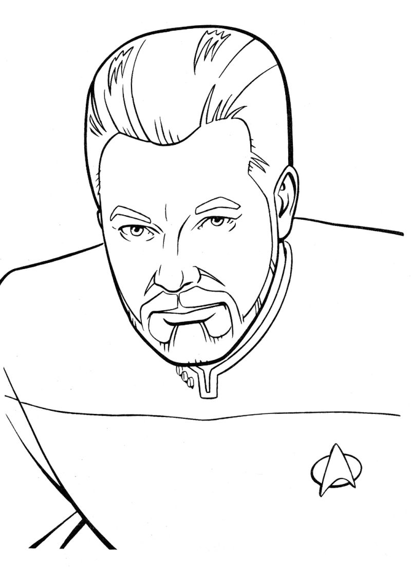 800x1110 Star Trek Group Coloring Pages