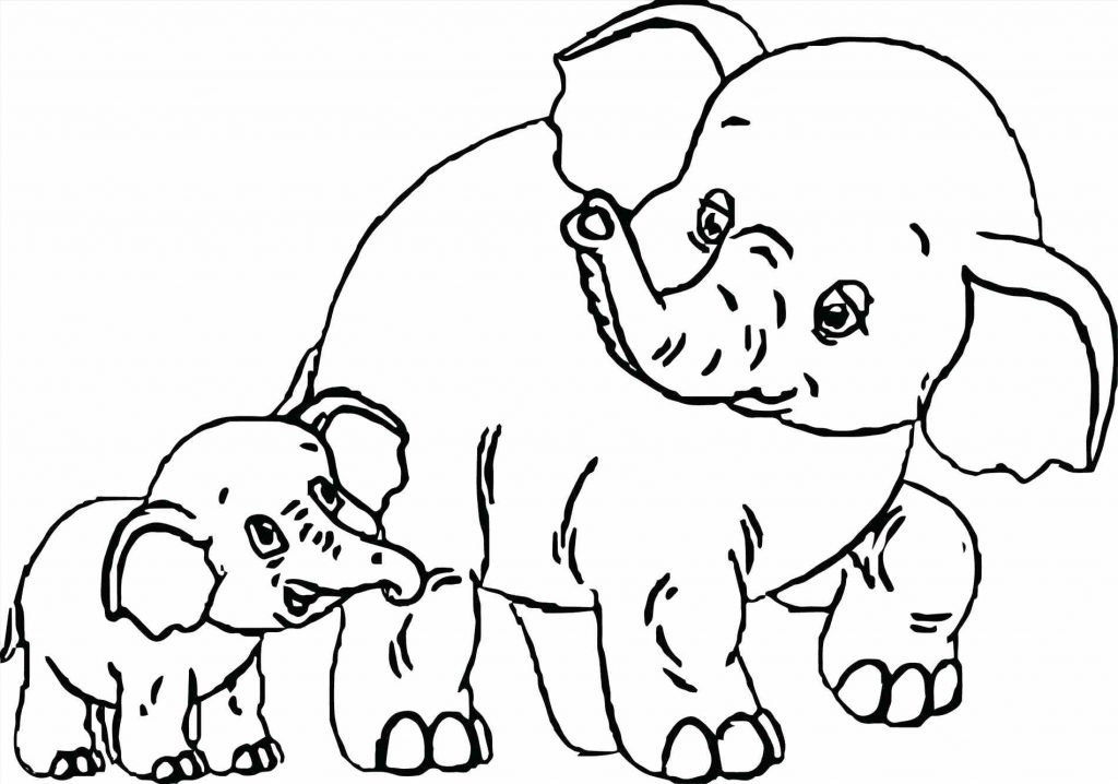 1024x718 Coloring Page Baby Elephant Coloring Pages Scrapbook Page