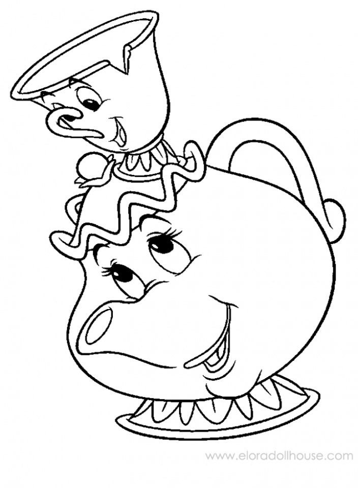 704x960 Tea Cups Coloring Pages