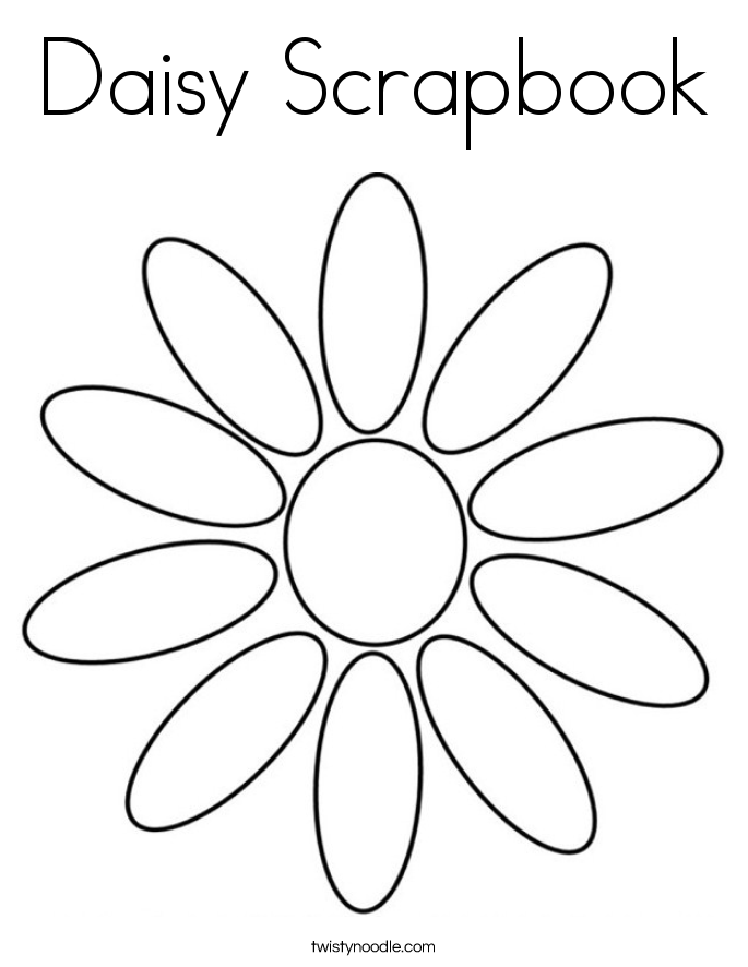 685x886 Daisy Scrapbook Coloring Page