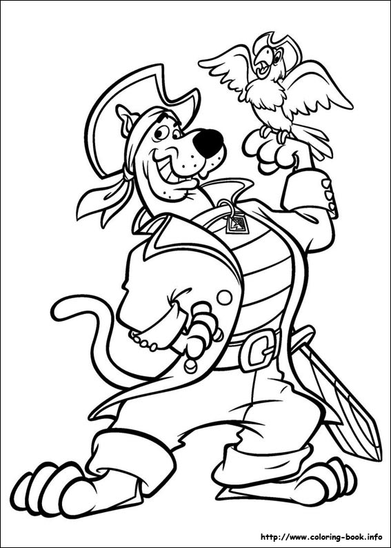 567x794 Scooby Dou Coloring Pages On Coloring