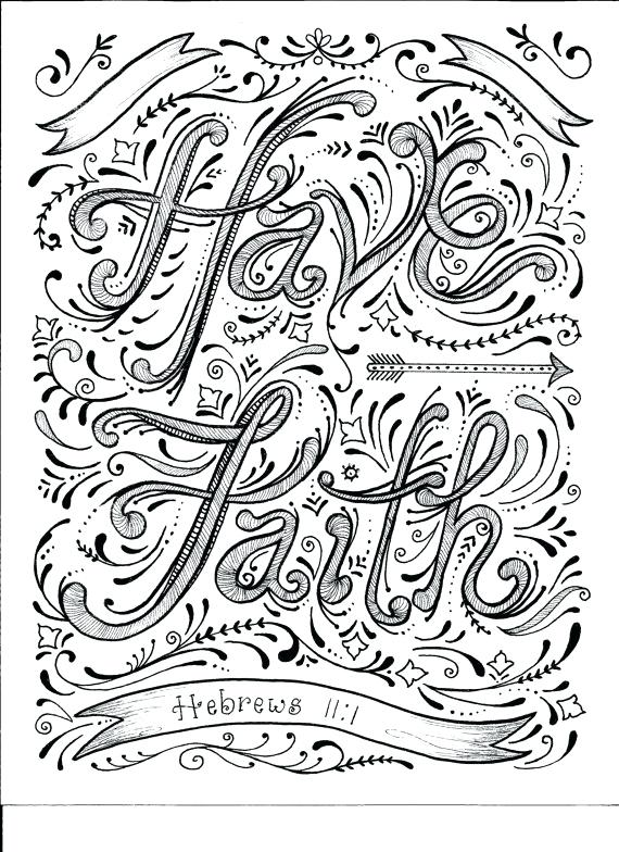 570x784 Free Printable Christian Coloring Pages Adult At Religious Pray