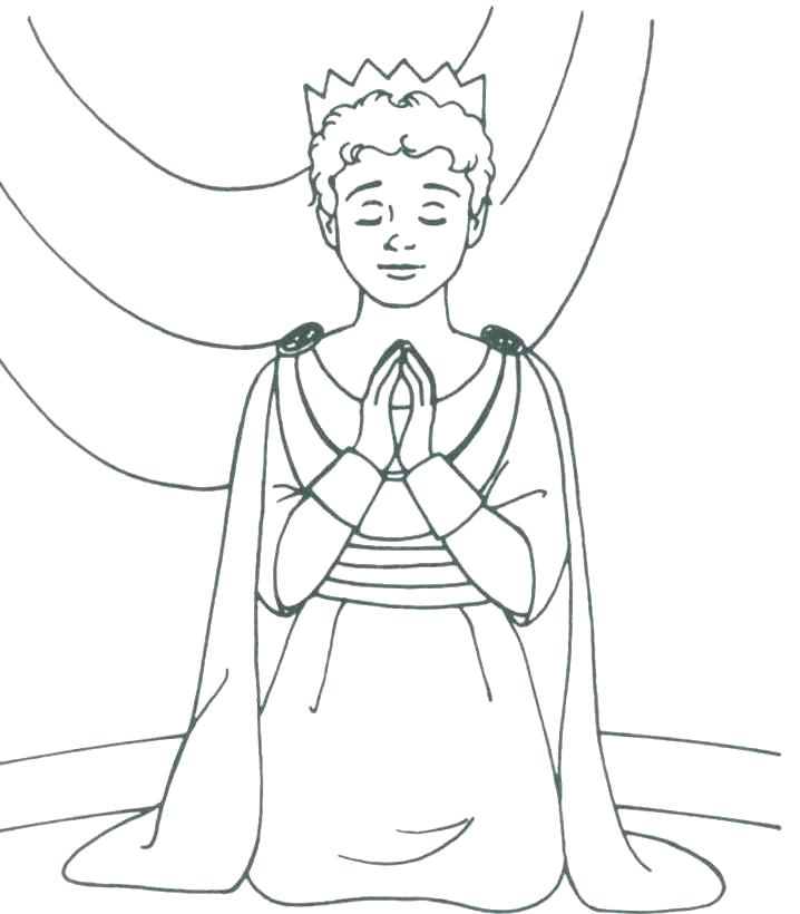 718x820 King Coloring Page An King Coloring Pages King Scroll King