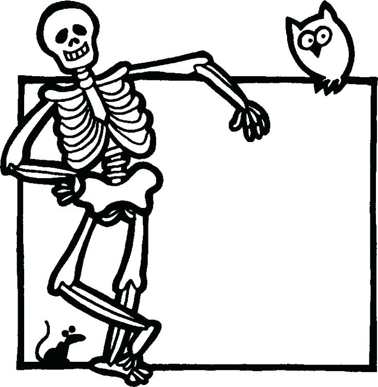 736x752 Halloween Skeleton Coloring Pages Coloring Page Skeletonnd
