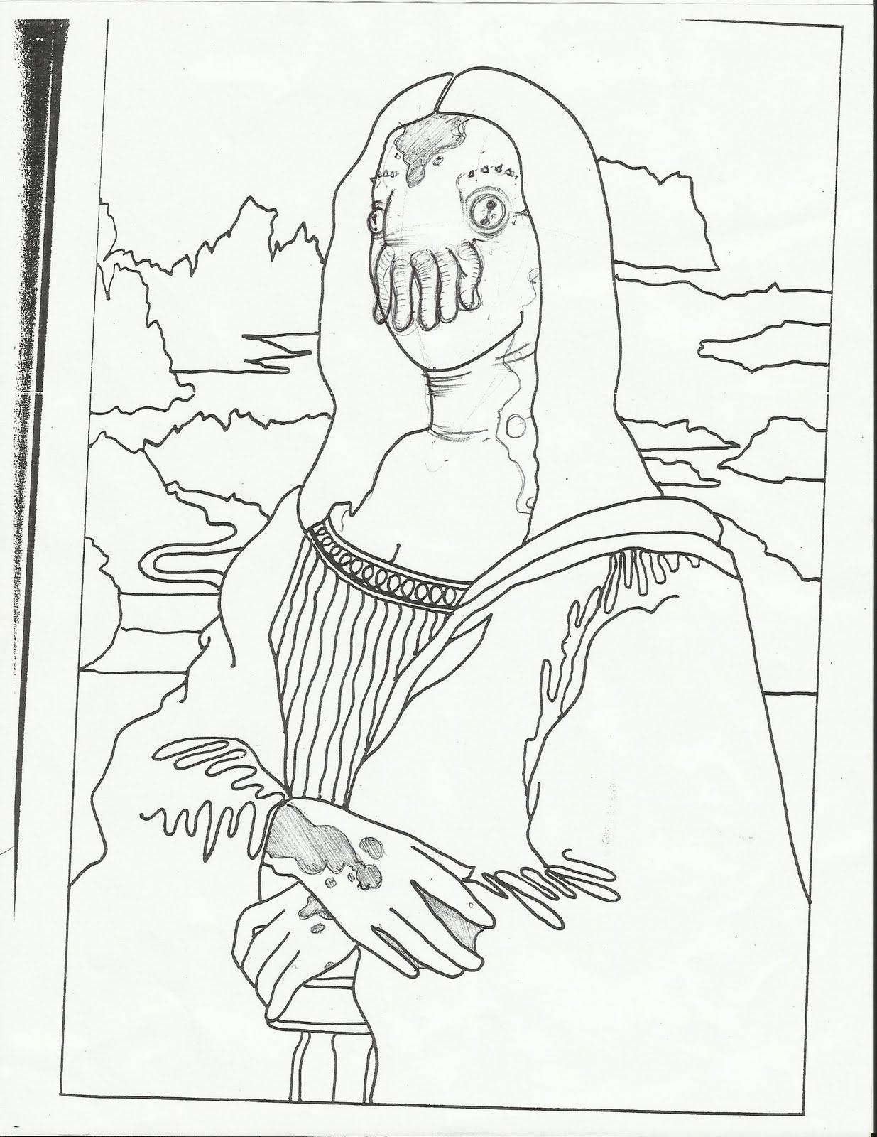1235x1600 Leonardo Da Vinci Coloring Page