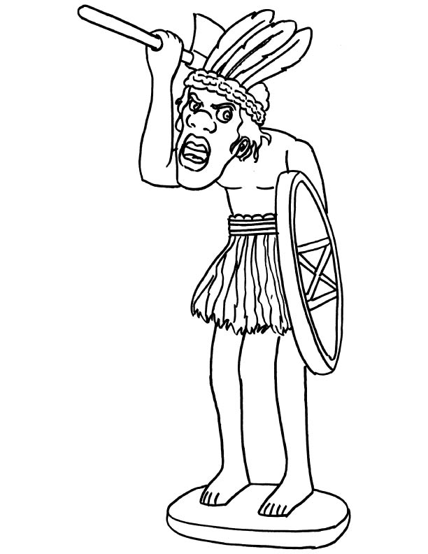 612x792 African Sculpture Coloring Page Download Free African Sculpture