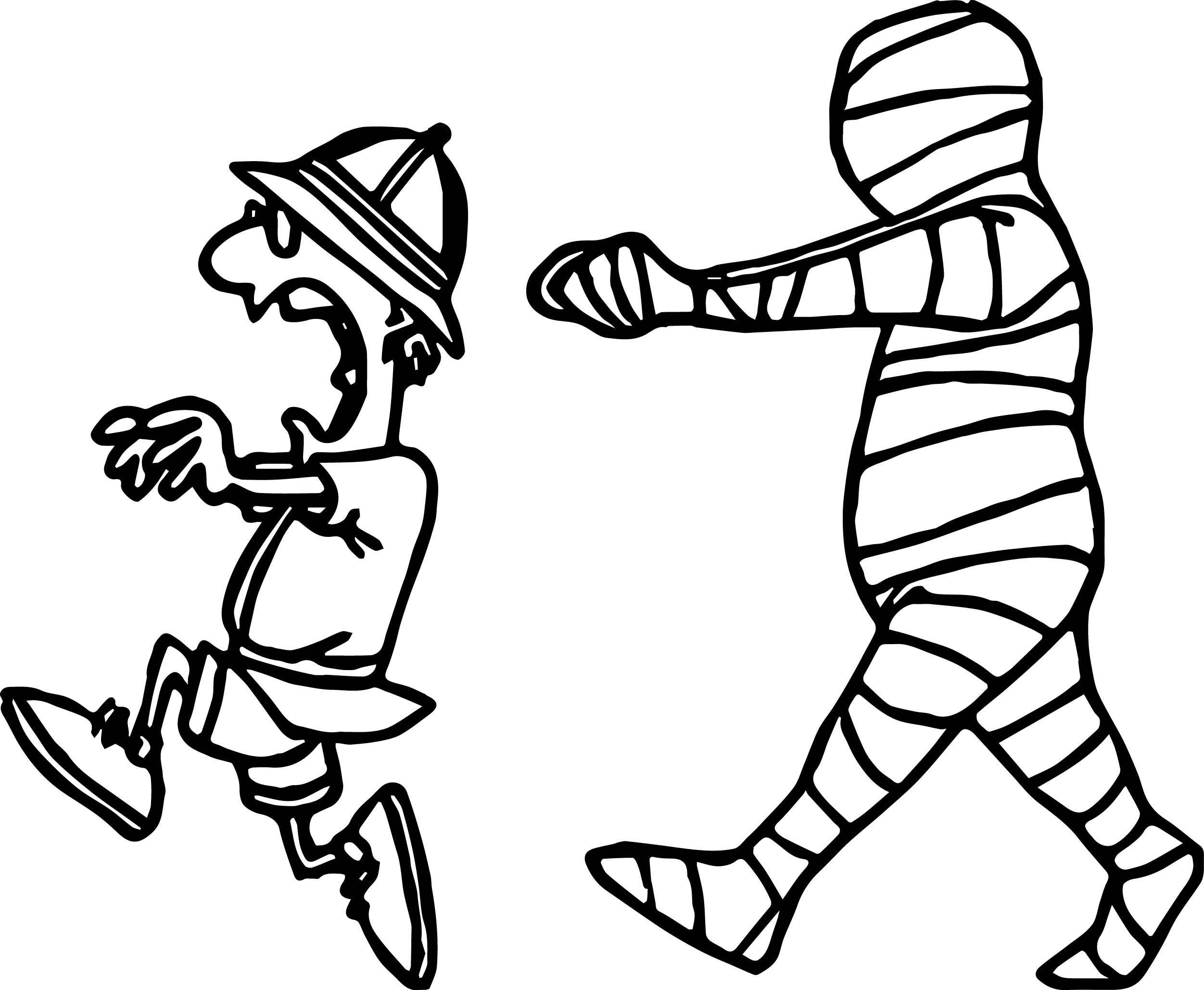 2503x2058 Man Escape From Egypt Mummy Coloring Page Wecoloringpage