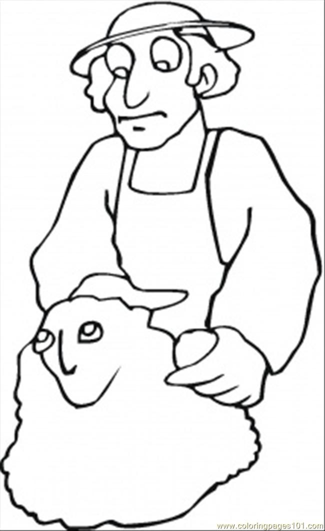 650x1063 Man Is Making Sculpture Coloring Page