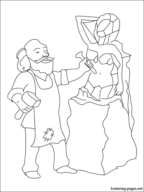 560x750 Sculptor Coloring Page Coloring Pages