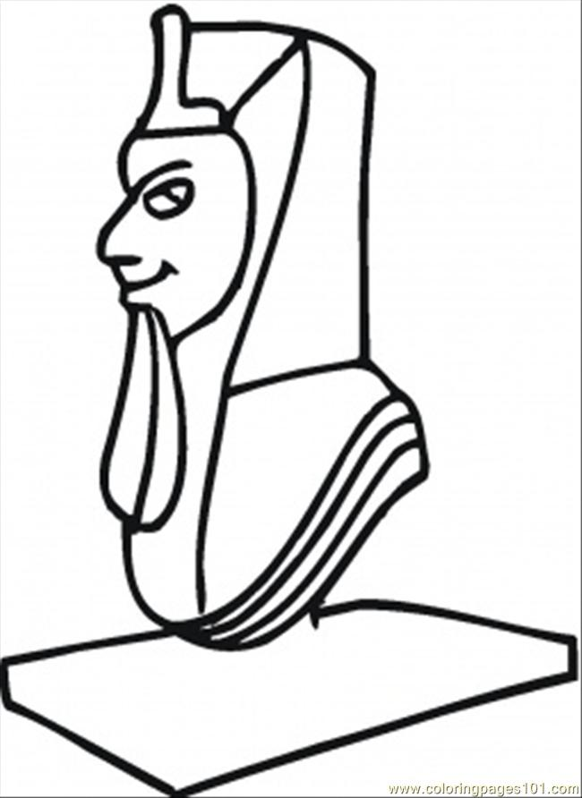 650x892 Sculpture Of Egyptian Coloring Page
