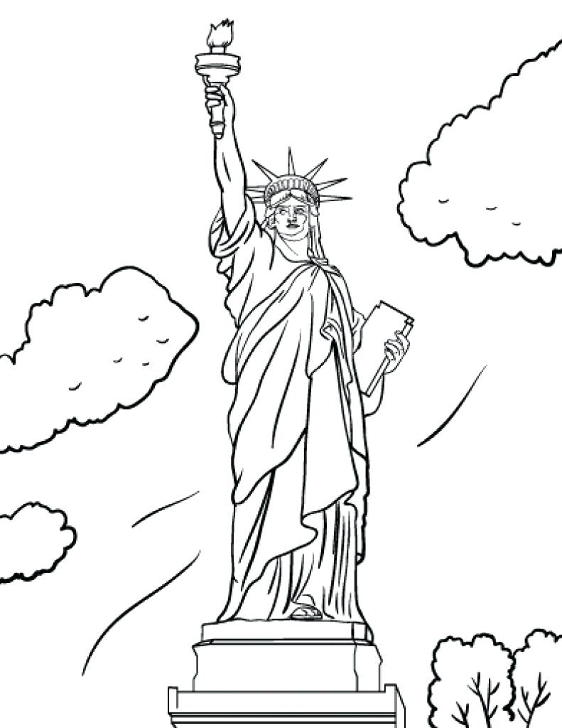 791x1024 Statue Of Liberty Coloring Page