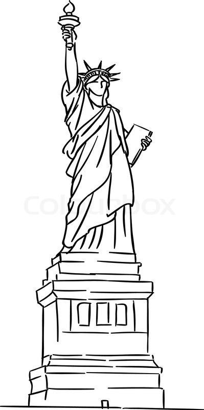 399x800 Drawn Statue Of Liberty Sculpture