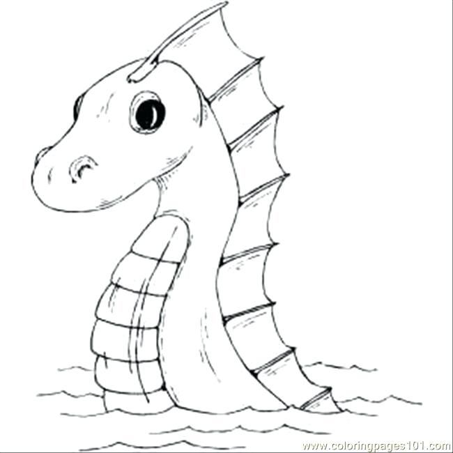 650x650 Sea World Coloring Pages Sea Serpent Sea World Colouring Pages