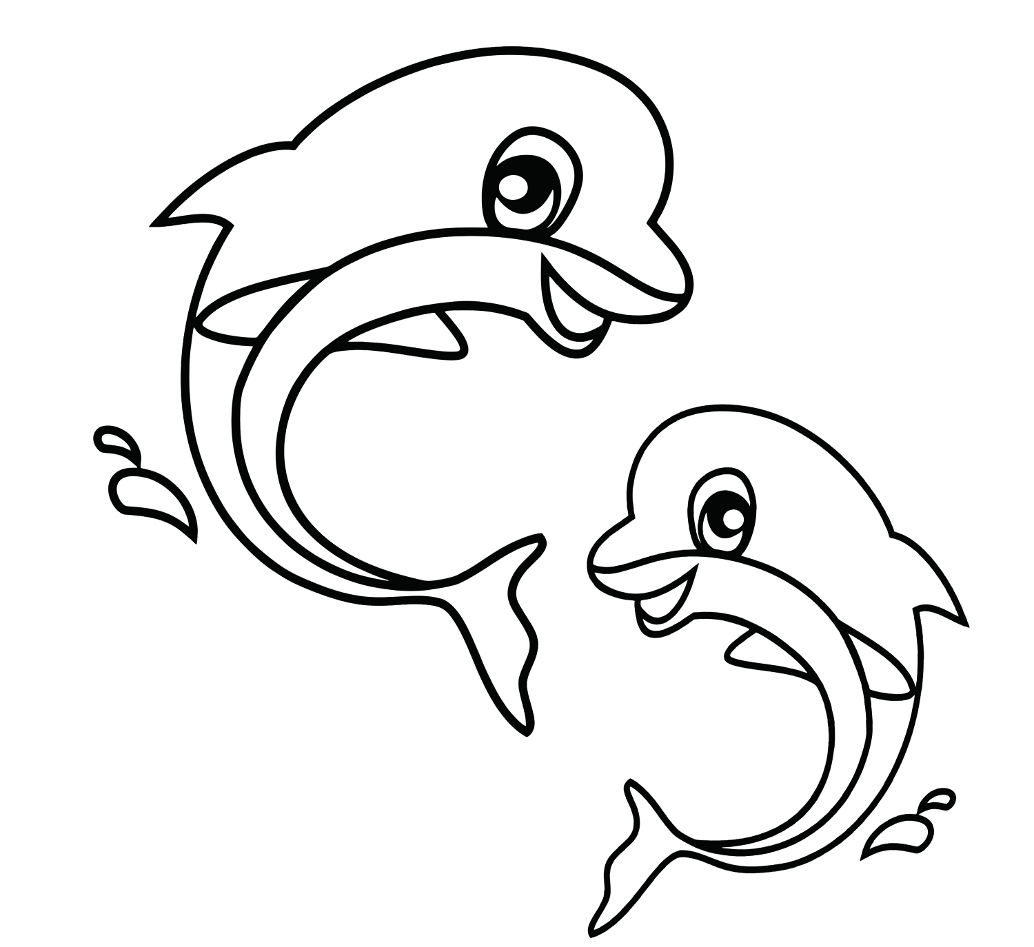 1500x1374 Great Cute Animal Coloring Pages Best S Of Sea Animals Free
