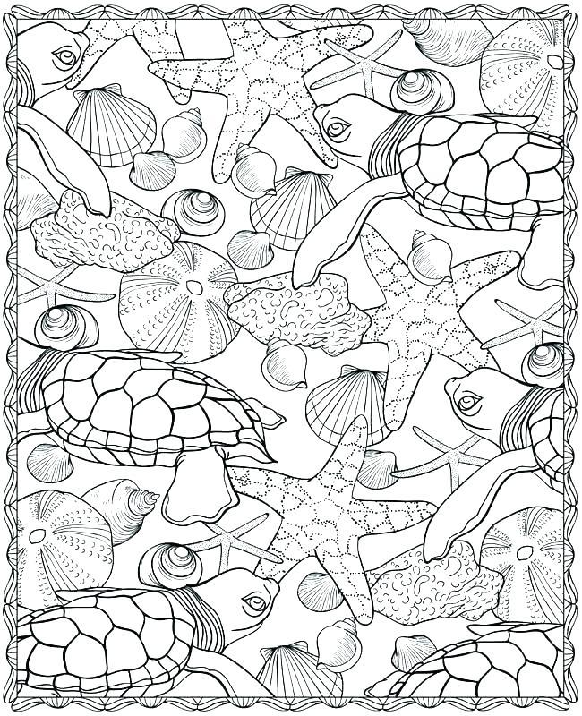 650x800 Coloring Pages Of Ocean Animals Sea Animals Coloring Ocean Animal