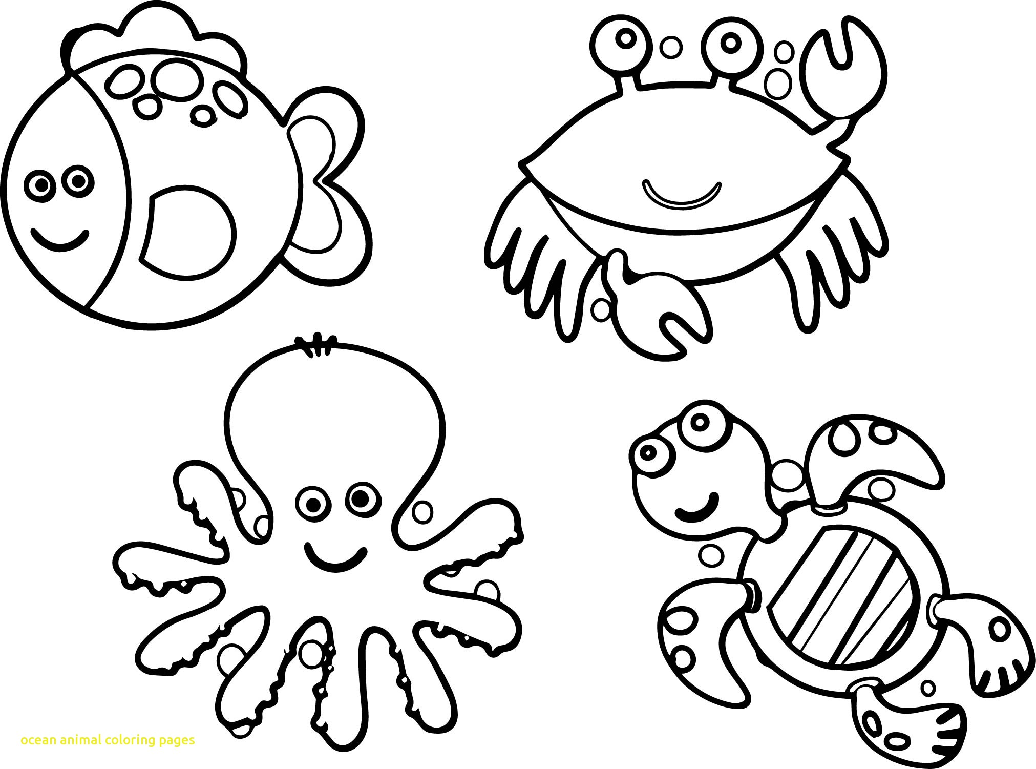 2023x1501 Ocean Animal Coloring Pages With Sea Creatures Coloring Pages