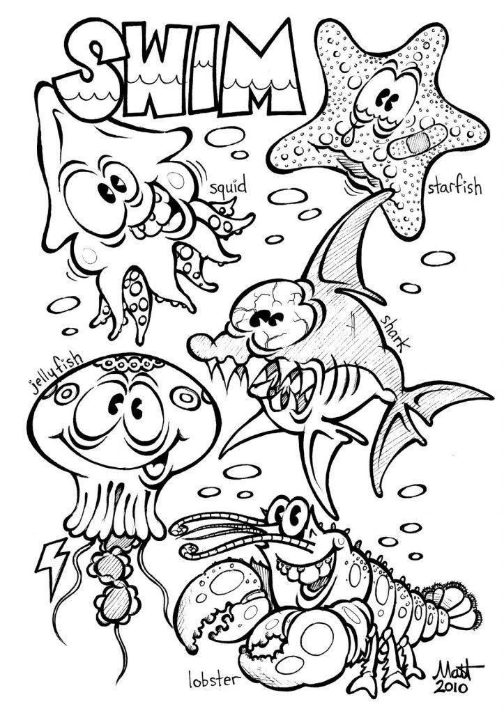723x1024 Free Printable Ocean Coloring Pages For Kids Ocean, Free