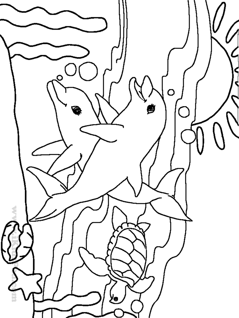 768x1024 Sea Animal Coloring Pages Cute Animals Page For Kids Ribsvigyapan